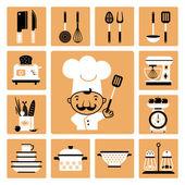 Kitchen  equipment. — ストックベクタ