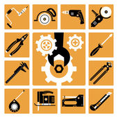 Tools icons set  — Stock Vector