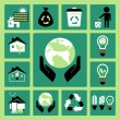 Ecology icons — Stock Vector