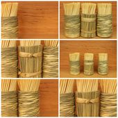 Toothpicks collage — Stock Photo