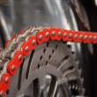 Stock Photo: Motorcycle chain