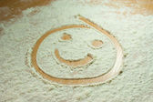 Flour smiley — Foto Stock