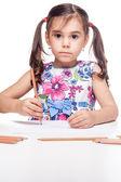 κορίτσι στο τραπέζι — Φωτογραφία Αρχείου