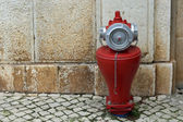 Hydrant - Red Fire Cock — Stock Photo