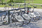 Stazione di noleggio biciclette — Foto Stock