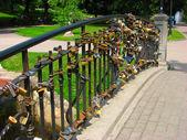Wedding's locks — Stock Photo