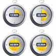 Timers set — Stock Vector
