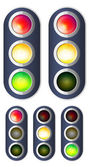 Traffic lights — Stock Vector