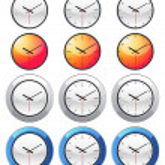 Zegar ikonę — Wektor stockowy