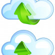 Stock Vector: Cloud Upload