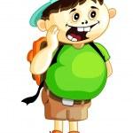 Cartoon school boy — Stock Vector #33854283