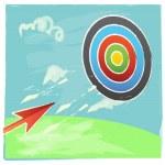 Target and Arrow — Stock Vector