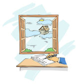 Planning for New Home — Cтоковый вектор