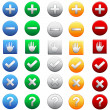 Big collection of web color icons — Stock Vector