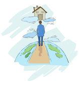 Illustration - the concept of home — Stok Vektör