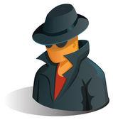 Spy man — Stock Vector