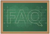 Word Faq on blackboard — Stock Vector