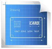 Financial Blueprint - Illustration — Stock Vector