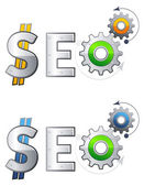 SEO - Search Engine Optimization — Stock Vector