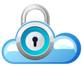 Secure Cloud Technology - Illustration — Stockvektor