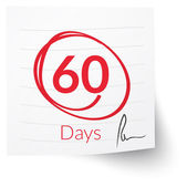 Poznámka: lhůta 60 dní — Stock vektor