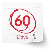 Deadline Note 60 Days — Stock Vector