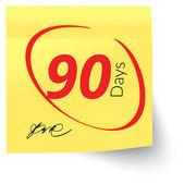 Nota prazo 90 dias — Vetor de Stock