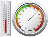 Blood Pressure Monitoring Gauge — Stock Vector
