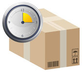 Quick Consignment Delivery - Illustration — Stock Vector