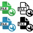 Repair File icon — Stock Vector