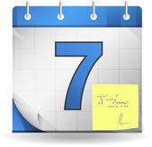 Deadline calendar note — Stok Vektör