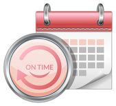 On Time Delivery Schedule — Stock Vector