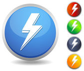 Icon Lightning Bolt — Vector de stock