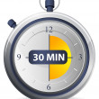 Stock Vector: Timer Icon - 30 Minutes