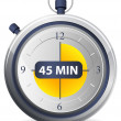 Stock Vector: Timer Icon - 45 Minutes