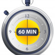 Timer Icon - 60 Minutes — Stock Vector