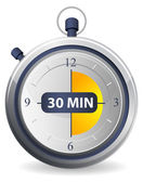 Timer Icon - 30 Minutes — Stock Vector