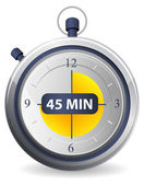 Timer Icon - 45 Minutes — Stock Vector
