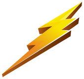 Lightening Bolt Icon — Stock Vector