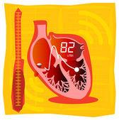 Blood Pressure Monitoring — Stock Vector