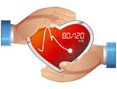 Blood Pressure Care — Stock Vector