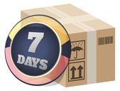 7 Days Consignment Delivery — Stock Vector
