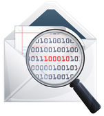 Email Scan Icon — Vector de stock