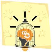 Caged Creativity — Stock Vector