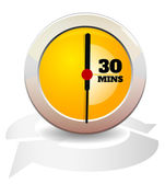 Timer Icon - 30 Mins — Stock Vector