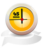 Timer Icon - 45 Mins — Stock Vector