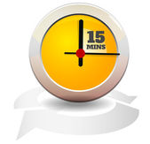 Timer Icon - 15 Mins — Stock Vector