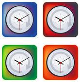 Clock - Illustration — Stock Vector