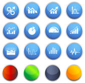 Business Graph Icon Set — Stock Vector