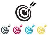 Bang on Target Icon — Stock Vector